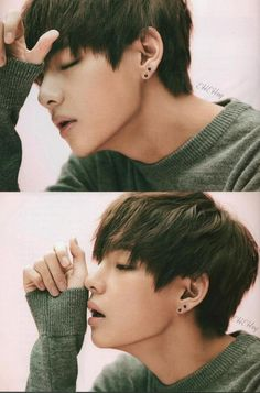 That jawline...absolutely flawless. #BTS V