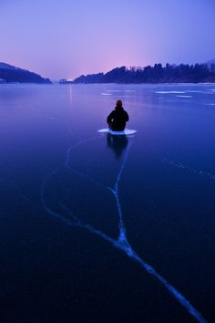soul searching in deep freezing silence