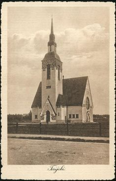 The Terijoki Church, today on the Russian side after the war Lutheran, Central Asia, Helsinki, Old Pictures, Ancient History, Finland, Denmark, Vintage Photos, Norway
