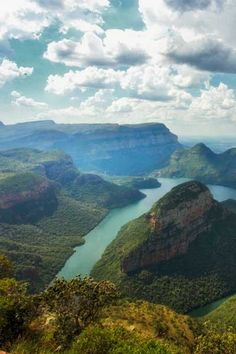 Blyde River Canyon, located in Mpumalanga, Africa is one of the largest and greenest canyons in the world. we will have to see this Places To Travel, Places To See, Visit South Africa, Le Cap, Seen, Africa Travel, Adventure Is Out There, Dream Vacations, Travel Inspiration