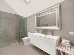 bathrooms image: creams, greys - 654004