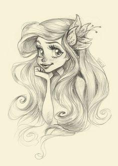 My fast sketchy illustration of the cutest mermaid princess Ariel. www.facebook.com/DarkoDordevic… darkodordevic.tumblr.com/ instagram.com/darkodark/