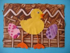 Tapa pollet pintada amb xocolata