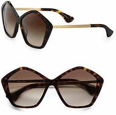 Miu Miu Star Metal & Acetate Oversized Round Sunglasses on shopstyle.com