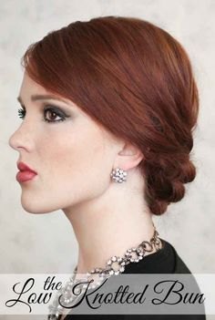 The Low Knotted Bun | 31 Gorgeous Wedding Hairstyles You Can Actually Do Yourself