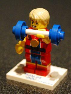 Olympic Lego power lifting #LEGO lego