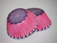 24 Princess Cupcake Liners, Pink and Purple Cupcake Papers, Baking Cups, Birthday Party, Princess Party, Girls Baby Shower.  via Etsy.