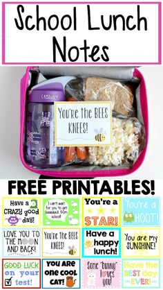 Make your kid's day with these free printables! Easy to print out and slip into his lunch! Make your kid's day with these free printables! Easy to print out and slip into his lunch! Back To School Lunch Ideas, School Lunch Box, Lunch To Go, School Snacks, Back To School Quotes, Lunch Time, School Fun, Toddler Meals, Kids Meals