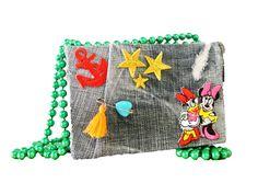 Mignon bag: Demin with stikers