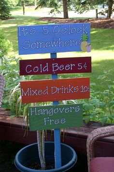 It's 5 O'clock Somewhere Yard Signs/Beach Signs by Pinstripes0108, $15.00