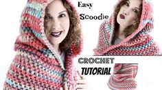 Easy Vibrant Fall Scoodie Crochet Tutorial - YouTube