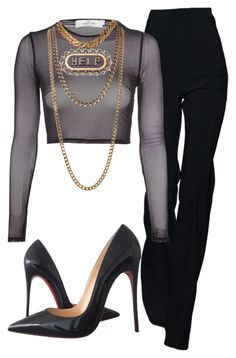 """Untitled #47"" by nelah-boo ❤ liked on Polyvore featuring Oh My Love, Lanvin and Christian Louboutin"