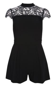 Primark - Black Lace Playsuit