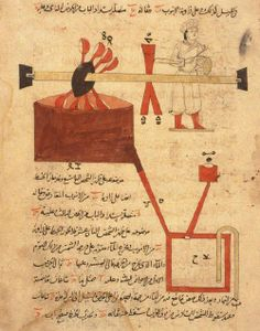 """Arguably the first drum machine.. 1206, al-Jazari's """"Book of Knowledge of Mechanical Devices"""""""