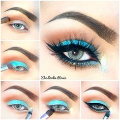 Instagram media by she_looks_rosie - ✨Quick #pictorial using @anastasiabeverlyhills #Mayamia Palette - in love with 'Aqua'  Firstly - Prep eye. @anastasiabeverlyhills  Dipbrow in Medium Brown, clean up using Pro Pencil in Base 2. On lid @shadesbygal Eyeshadow magnet in Natural.  1: On the crease/transition colour use Shade 'Caramel' from the Maya Mia Palette - I have also used a touch of 'Vanilla' on the brow bone. I am using blending brush F63 from @sigmabeauty.  2: Using a flat brush ...