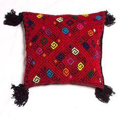 Mayan wool pillowcase