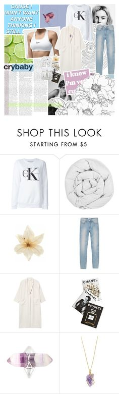 """clearing my drafts"" by samiikins ❤ liked on Polyvore featuring Calvin Klein Jeans, The Fine Bedding Company, Clips, Monki and Assouline Publishing"