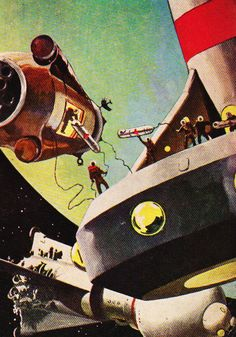 Detail from February 1957 Galaxy Science Fiction magazine cover.