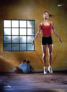 Did you know that skipping burns 1000 calories an hour? Get out that jump rope & get sweaty!