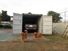 Great Way To Store Your Vehicle! #Storage #ShippingContainer #Container # Garage