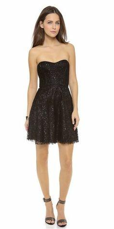 REVEL: Black Metallic Dress