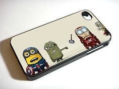 Despicable Me The Avengers Minions - iPhone 4 / iPhone 4S / iPhone 5 Case Cover 451K on Etsy, $14.99