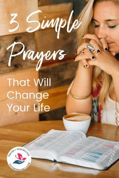 3 Simple Prayers That Will Change Your Life Ready to believe in prayer that changes lives? Try these 3 simple, life-changing prayers from Psalm Let prayer move the mountains in your life! Daily Devotional Prayer, Prayer Scriptures, Faith Prayer, God Prayer, Prayer Quotes, Bible Verses, Bible Quotes, Husband Prayer, Rosary Prayer