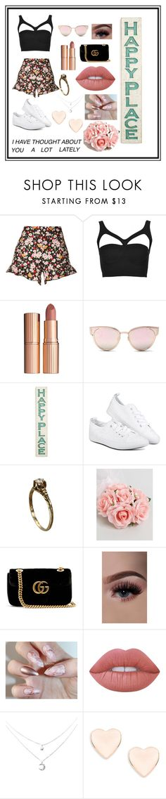"""the roses are wilted, the violets are dead."" by simpleb3auty ❤ liked on Polyvore featuring RED Valentino, Rare London, Charlotte Tilbury, LMNT, Primitives By Kathy, ASOS, Gucci, Lime Crime and Ted Baker"