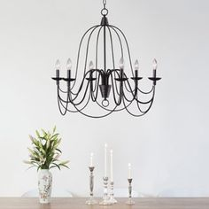 Design Craft Alma Blackened Oil Rubbed Bronze 6-light Chandelier | Overstock.com Shopping - The Best Deals on Chandeliers & Pendants