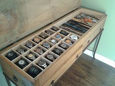 Homemade watch boxes
