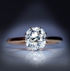 Antique Russian 2.66 Ct Cushion Cut Diamond Engagement Ring - Antique Jewelry   Vintage Rings   Faberge Eggs