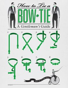 How to tie a bow-tie.  Never know when this may come in handy!