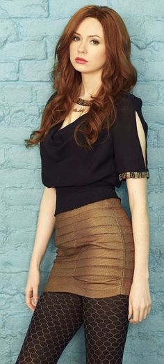 Karen Gillan is awesome for nice tights and classy tops
