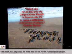 Unique Home Health Receive Tribute & Medicine Coupons by Charles Myrick of ACRX