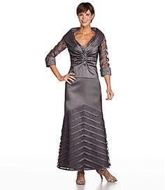 KM Collections Woman Taffeta Blouse and Skirt #Dillards