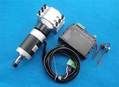 130.15$  Buy now - http://alim80.worldwells.pw/go.php?t=32641719020 - 400w ER11 12000RPM BL DC spindle motor&PWM MACH3 Driver controller&mount bracket CNC DIY kits