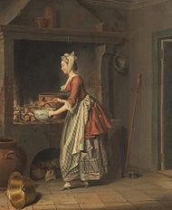 Kitchen interior second half of 18th century by  Pehr Hilleström.