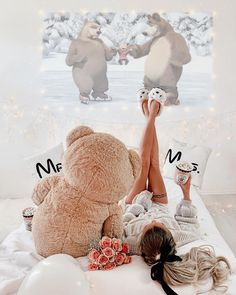 ⚘'s Teddy for her 🐻🐼 images from the web Teddy Girl, Big Teddy Bear, Giant Teddy, Teddy Bear Pictures, Teddy Photos, Best Photo Poses, Pajamas All Day, Beautiful Girl Image, Just Girly Things