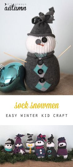 New pictures sock snowmen tinker tips snowman christmas homemade projects can ce … – Winter Craftsy Bloğ Christmas Crafts For Adults, Winter Crafts For Kids, Winter Kids, Easy Crafts For Kids, Christmas Activities, Craft Activities, Holiday Crafts, Sock Snowman Craft, Sock Crafts