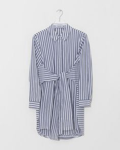 T by Alexander Wang L/S Tie Front Collared Dress | The Dreslyn