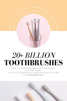An estimated 20+ BILLION #toothbrushes are thrown away each year. They will live on past our lifetime in our landfills and oceans, for hundreds and hundreds of years as #plastic #waste. Here at Heart On A Dime, we believe in easily #living an #eco-friendly lifestyle by simply choosing the eco-friendly options over the wasteful, not-so-eco-friendly ones. This week we are sharing 5 eco-friendly #toothbrushes that might just save the world! Join us!