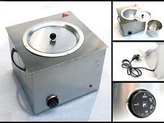 Cubeta o olla eléctrica para fundir lacre con termoregulador para mantener estable la temperatura. Ideal para fundir lacre para aplicar a botellería. Capacidad 4000gr.