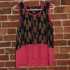 Nordstrom | C. Luce Pink Tribal Print Top | Size:S Nordstrom | great condition | no wear or damages | super cute for work or going out | true to size Nordstrom Tops Blouses