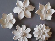 Ceramic Flower Garden Wall Hanging, ceramic wildflower, blackberry, c ...