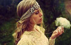 Boho Silver Headband