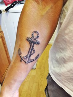 New Anchor Tattoo Hubby'S Arm