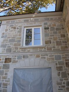 Limestone & Boxwoods: A Stone French Manor In Lake Forest French Door Windows, Steel Windows, French Doors, Stone Veneer Exterior, Stone Facade, Home Design Decor, House Design, Limestone House, Dolly House