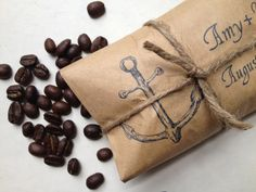 wedding favor: coffee beans