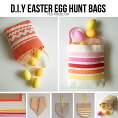 Easter Egg Baskets from purlbee.com, featured in round-up of Easter DIY on ScrapHacker.com