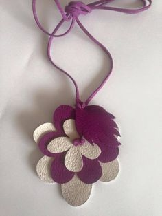 Leather Necklace by Gloria Bright Colors
